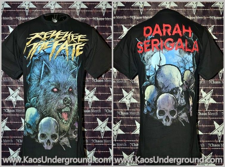 band Revenge The Fate RTF indonesian deathcore bandung SevenChaos Merch Beholder Anggi RTF KaosUnderground.com