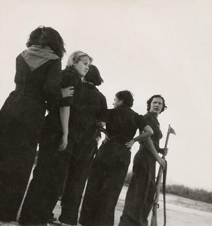 Gerda taro. milicianas en 1936