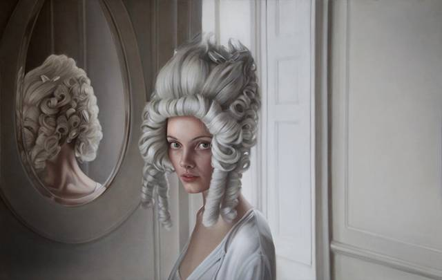 Mary Jane Ansell is a British artist who creates exquisite oil paintings that grace classical elegance with an almost regal oddity – capturing perfectly that eerie alienness so revered in fashion.