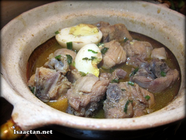 Braised Chicken in Fresh Coconut Juice with Egg served in Claypot - RM16.90