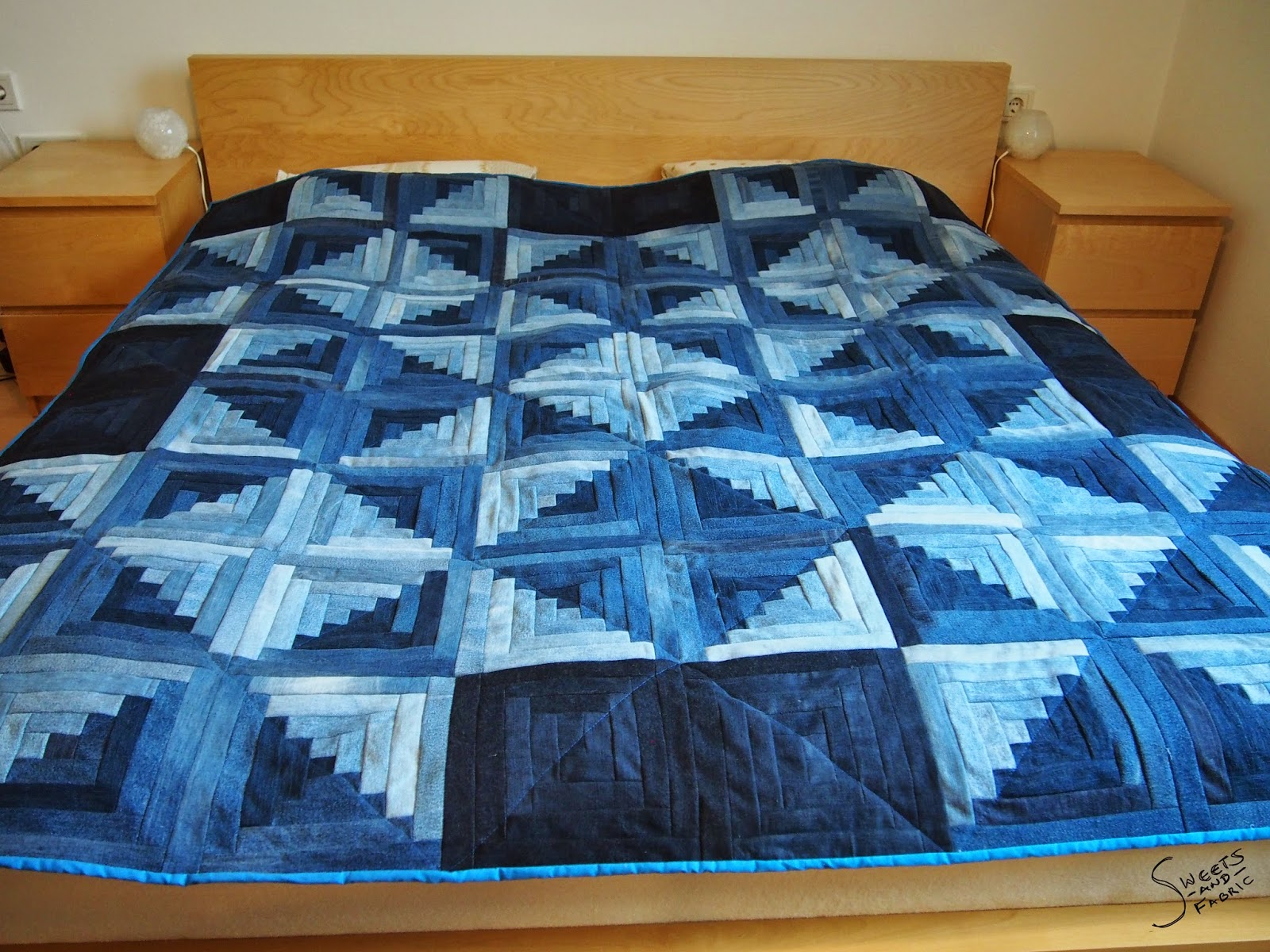 sweets fabric lessons learned jeans quilt. Black Bedroom Furniture Sets. Home Design Ideas