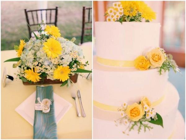 decoracao branco amarelo : decoracao branco amarelo:Solteiras Noivas Casadas: Decoração do Casamento: Amarelo e Branco