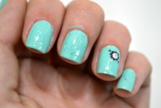 Nail Art - Rimmel Peppermint - Xin Xantia