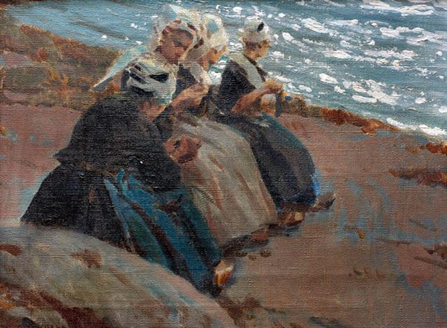 Enrique Martínez Cubells, Mujeres bretonas, Pintor español