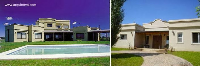 Dos modelos de casas de campo nuevas en Argentina