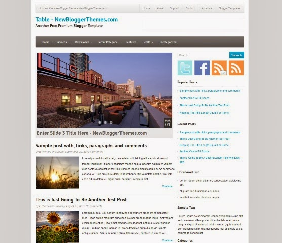 Table Blogger Template