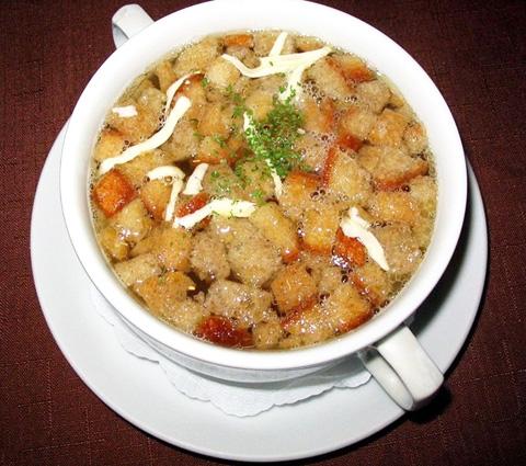 Чесночный чешский суп рецепт с фото