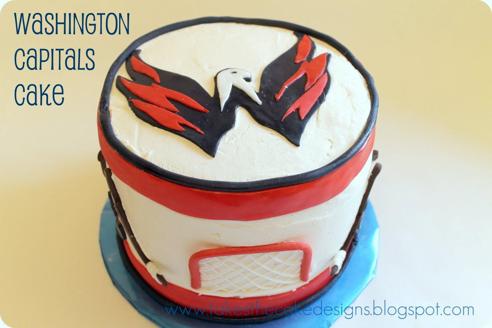 Takes the Cake Washington Capitals Birthday Cake