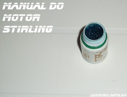 Manual do motor Stirling, graxa para lubrificação da haste do pistão deslocador