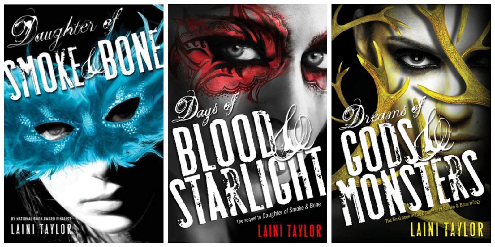 Daughter of Smoke & Bone trilogy book covers