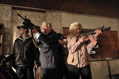 Alan Ford and Honor Blackman in Cockneys vs. Zombies