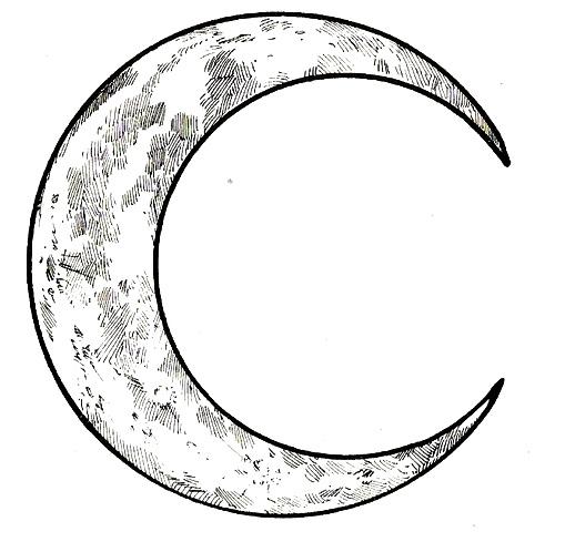 Mi colecci n de dibujos lunas para colorear - Dibujos de lunas infantiles ...