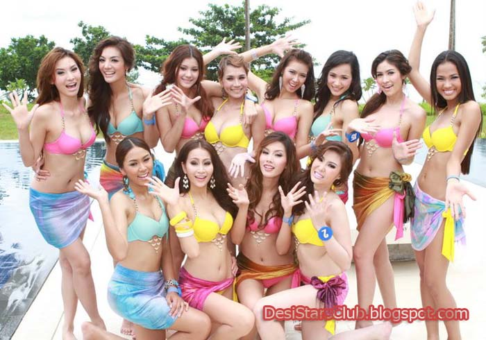 Miss Thailand World 2011 contestants Photos in bikini
