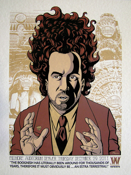 Justin Hampton Ween Denver Ancient Aliens Mash-Up Poster on sale  title=