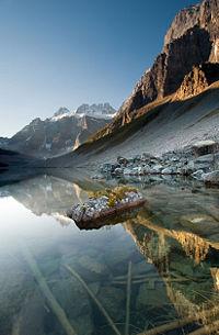 Resultado de imagen de El esquisto de Burgess (comúnmente llamado en inglés: «Burgess Shale» ) es el nombre de un célebre yacimiento de fósiles, ubicado en las inmediaciones del collado de Burgess en el Parque Nacional Yoho de la provincia de Columbia Británica, en Canadá.