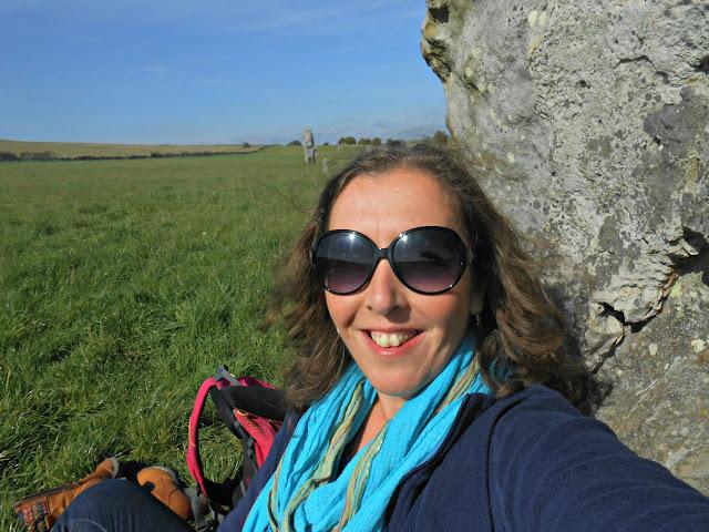 Kelly Martin at Avebury Stone Circle Wiltshire UK