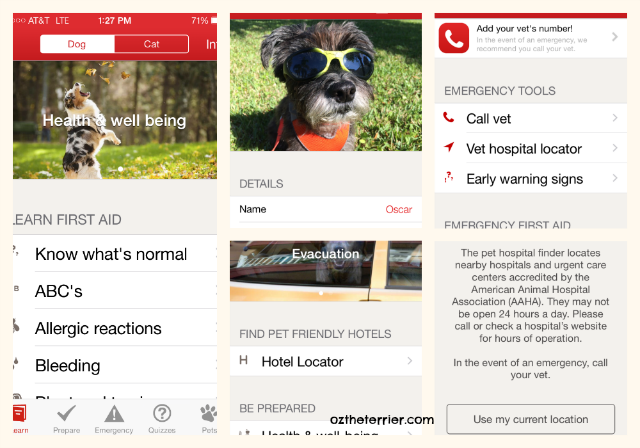 American Red Cross Pet First Aid app for iPhone and Android