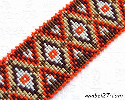 loom beading bracelet cuff beadwork jewelry beadweaving