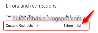 Blogger Custom Redirect 1