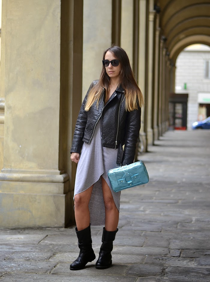 outfit nero grigio
