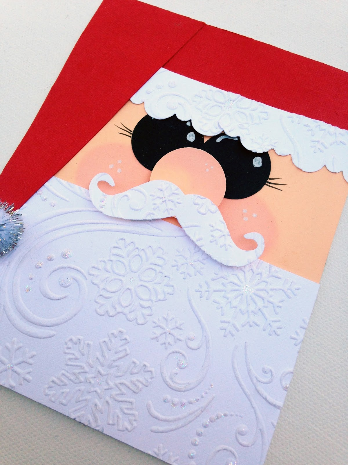 Embossed Santa Card @craftsavvy #craftwarehouse #christmas #holiday #diy #card