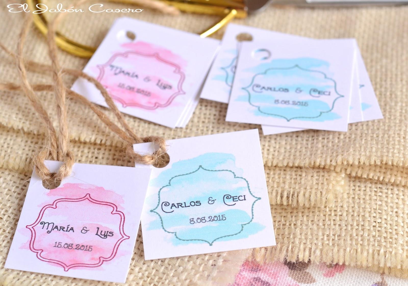 El jab n casero etiquetas personalizadas acuarela para bodas - Etiquetas para velas ...