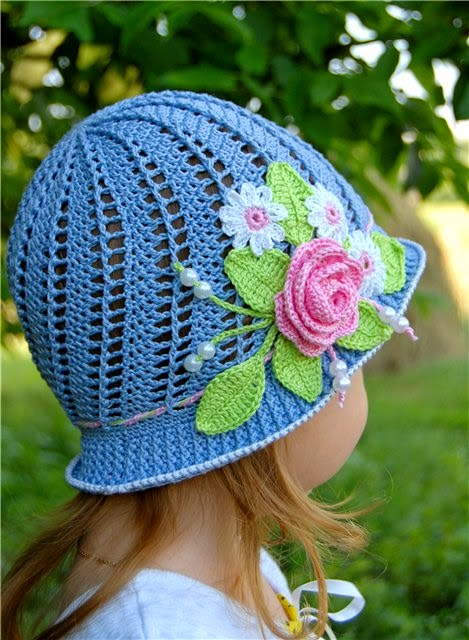 Red Haired Amazona Little Girls Cloche Hat Russian Pattern Update