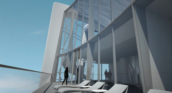 Balcony on One Thousand Museum by Zaha Hadid Architects