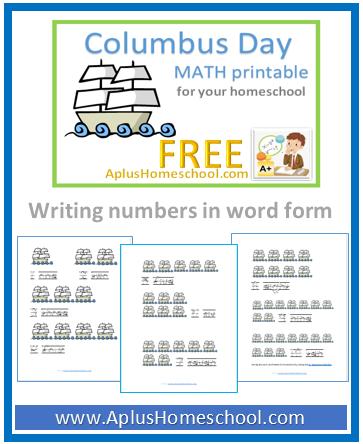 math worksheet : aplus homeschool resource blog  free lesson plan math ebooks  : Columbus Day Math Worksheets