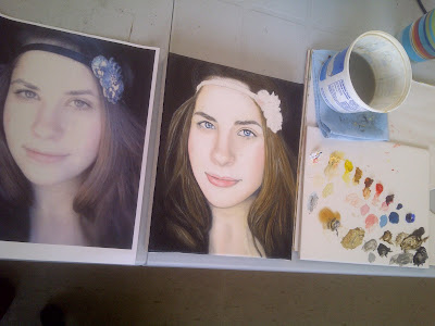 megan mccann, portrait artist, portrait painting, oil painting, beauty art, gems, pearls, blue eyes, art progress pictures