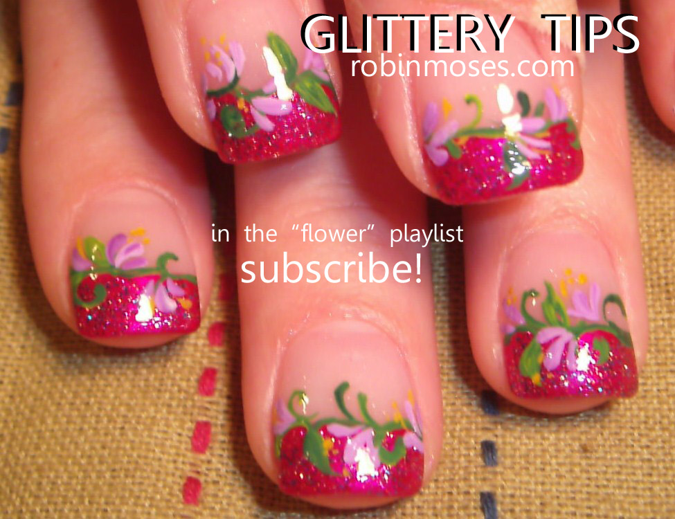 crazy neon nails, fun neon nails, neon flower nail, neon butterfly ...