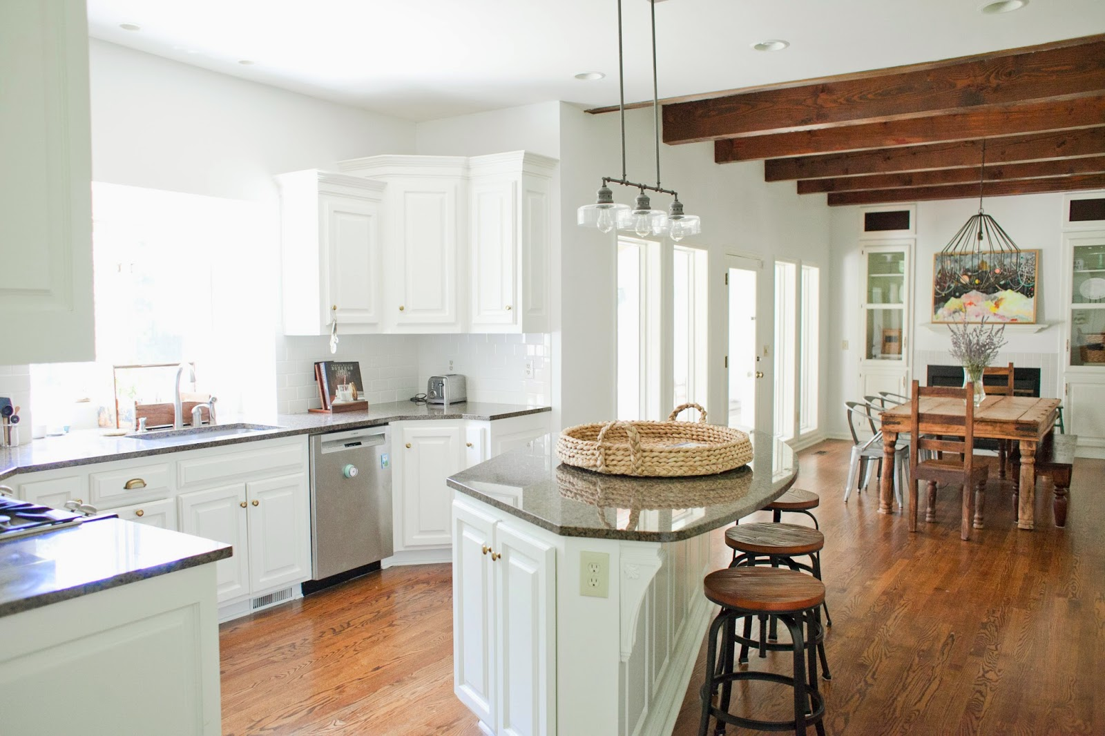 from the nato\'s: yet, another kitchen redo. because WHITE KITCHENS!