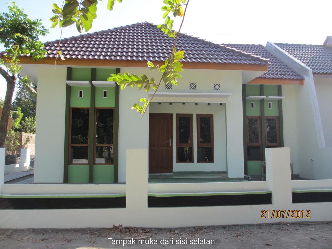home sweet home rumah minimalis aksen warna hijau sold
