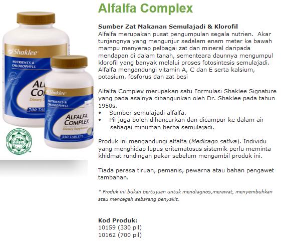 Alfalfa complex - agen detox terbaik