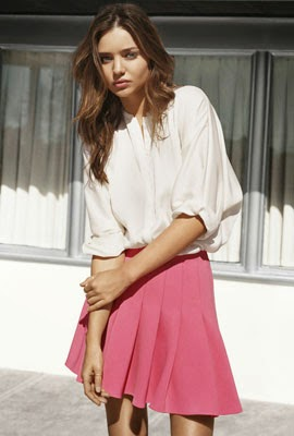 moda mujer primavera 2014 de H&M con Miranda Kerr