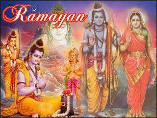 Picture of Seven Kandas of Ramayana, Hindu epic of Lord Rama