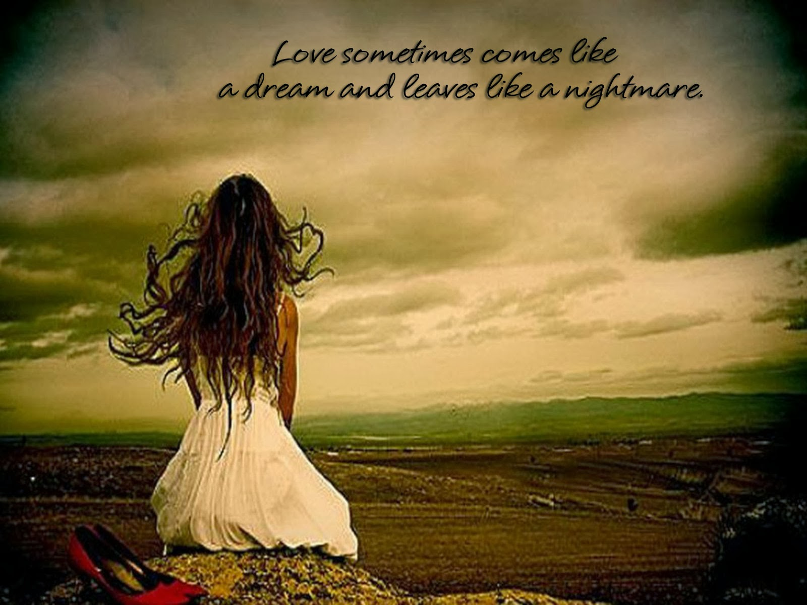 Love Wallpapers With Written : sad qoutes for broken hearts ~ Strangers World
