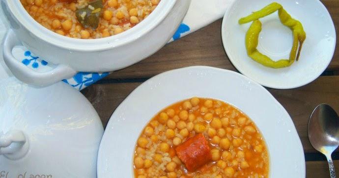 El placer de cocinar potaje de garbanzos y arroz for Cocinar a 40 grados