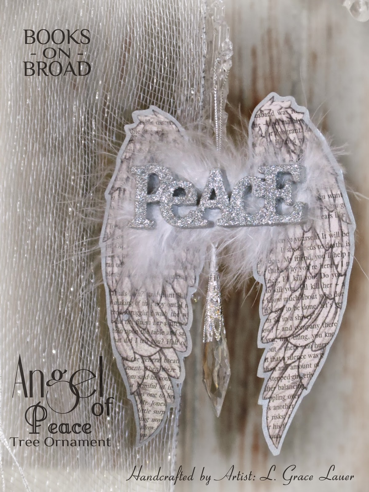Uniquely Grace: Stunning Book Page Angel Wing Christmas Tree ...