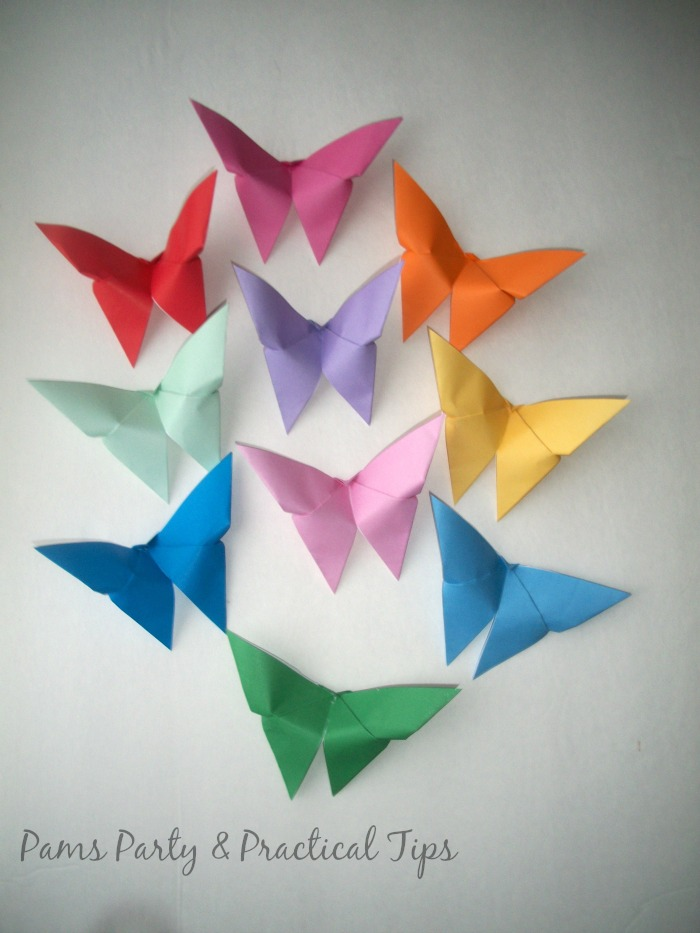 How to make Origami Paper Butterflies