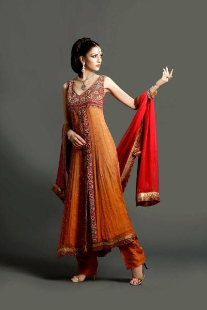 Pakistani Party Wear Dresses 2013