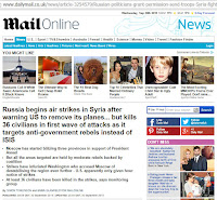 Screenshot of DailyMail header