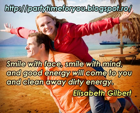 Smile with face, smile with mind, and good energy will come to you and clean away dirty energy.