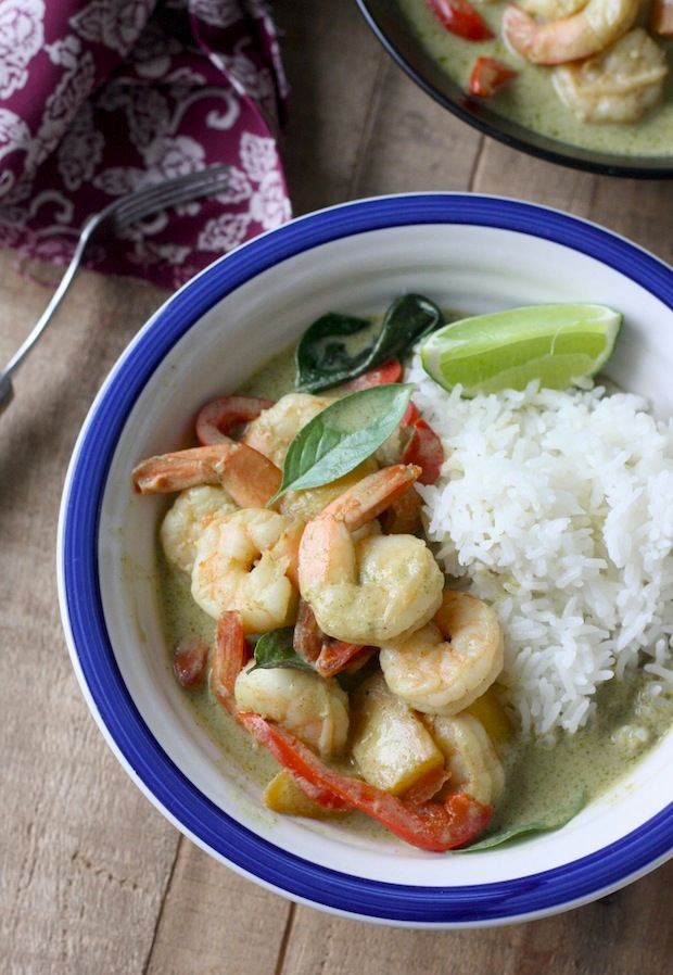 Thai Green Curry with Shrimp recipe by SeasonWithSpice.com