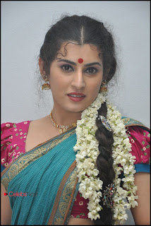 Archana (Veda) Latest Pictures in Saree at Maha Bhaktha Siriyala Audio Release  0016