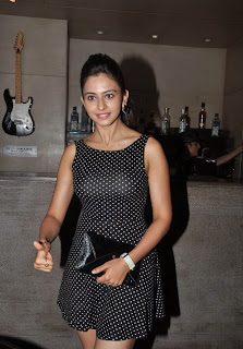 Actress Rakul Preeth Singh  Pictures in Short Dress at SS Thaman Charity Show  8