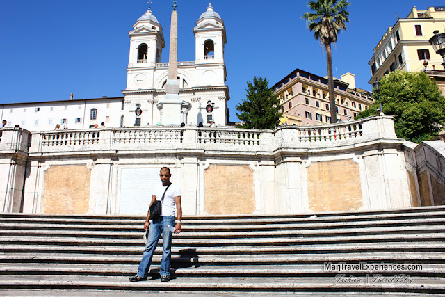 Romantic place in Rome the Spanish Steps