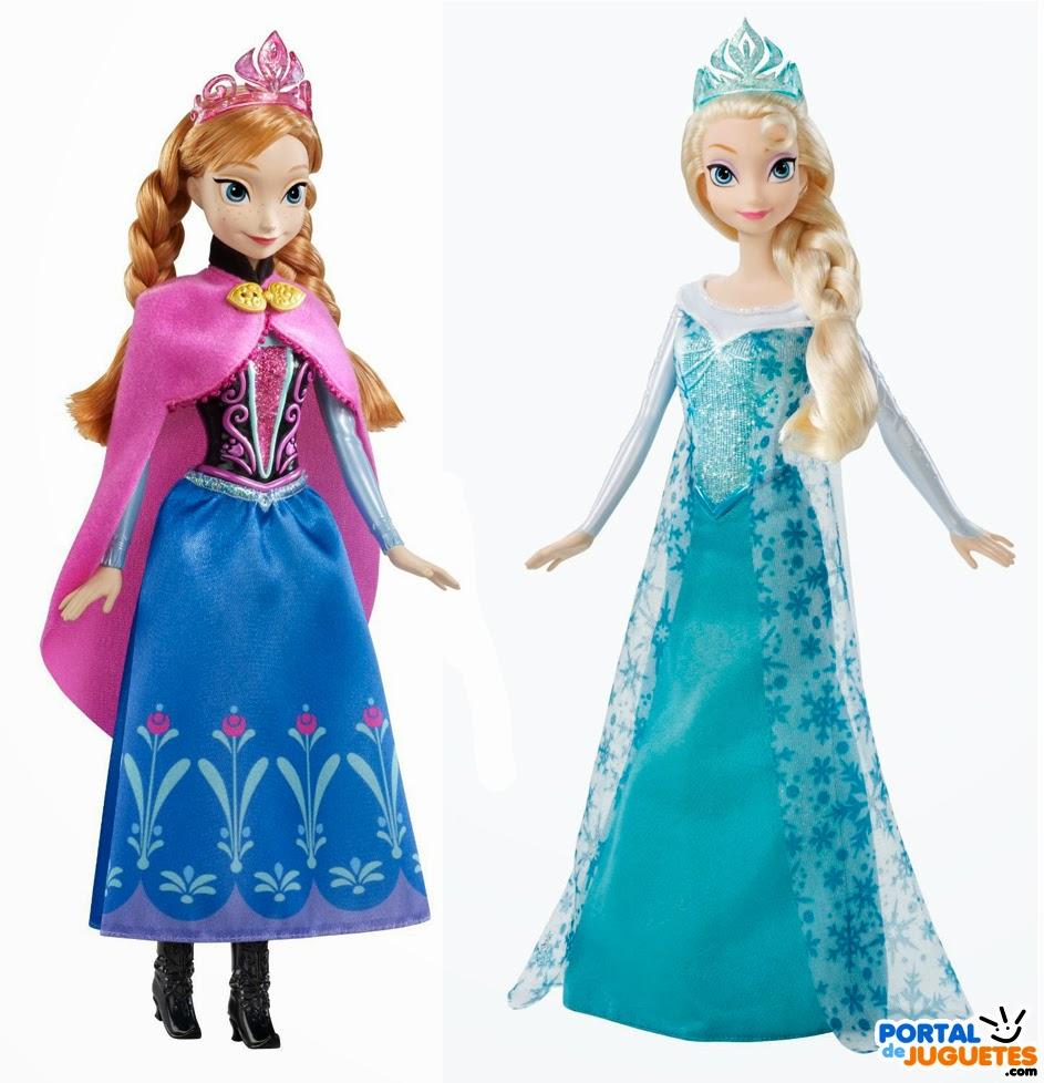 muñecas elsa anna purpurina frozen mattel