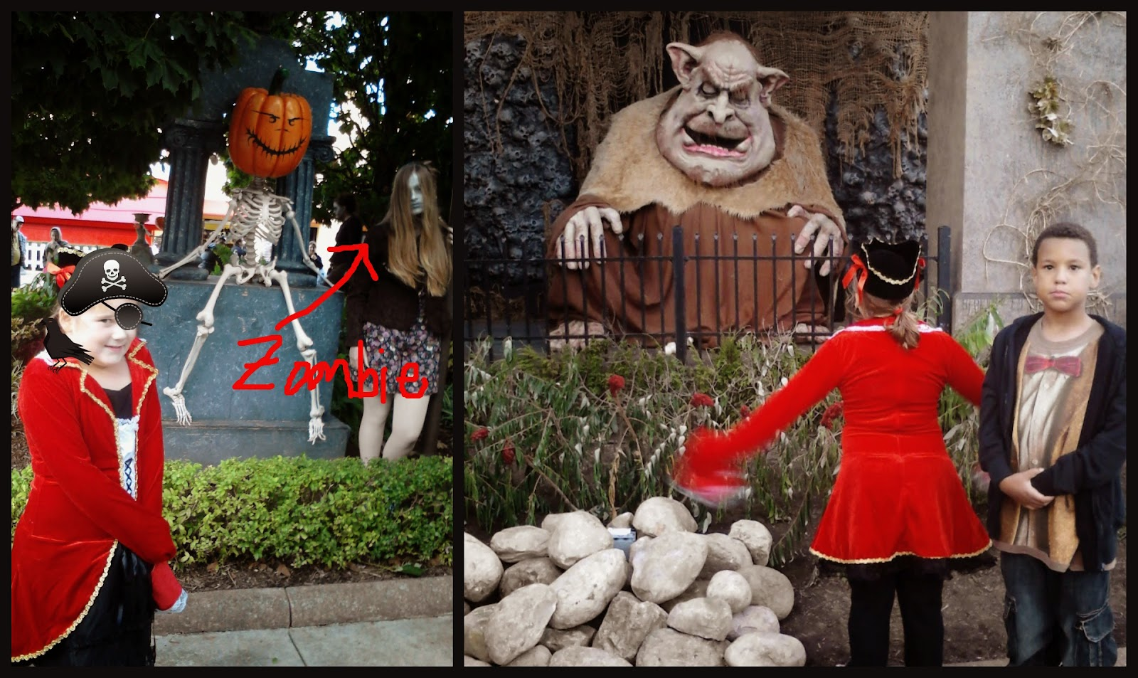 Zombies and Ogre at Halloweekends