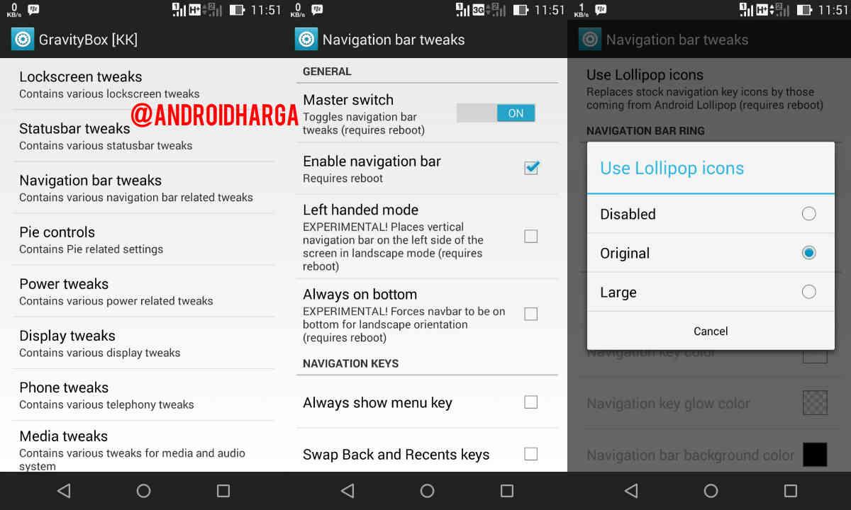Cara Menambahkan Navigation Bar Android Lollipop ke Zenfone 6